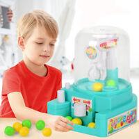 Mini Doll Machine Grab Ball Candy Catcher Gum Crane Kids Party Toys Role Play b