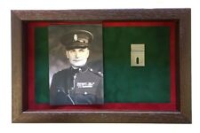 More details for large ruc medal display case with photograph for 2 - 3 medals