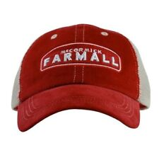 IH FARMALL *RED & OFF WHITE MESH BACK* Distressed Logo TWILL Hat Cap *NEW* FA12
