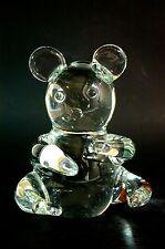 Art Glass koala Bear Paperweight Clear Crystal