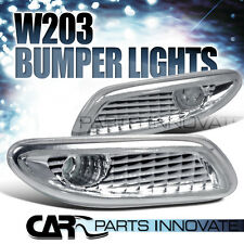 01-07 Benz W203 Clear Front Bumper Turn Signal Side Marker Lights