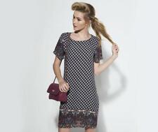BNWT NEW LADIES B.YOU TILE PATTERN TUNIC DRESS SIZE 10 SHIFT SUMMER BOHO CASUAL
