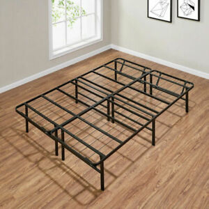 """Mainstay 14"""" High Profile Foldable Steel Bed Frame - Powder-Coated Steel, Full"""