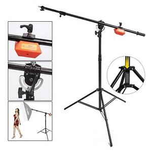 Studio Heavy Duty Light Stand Boom Arm 2 in 1 Steel Counterweight Photography UK