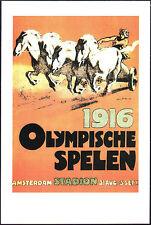 POSTCARD - GIOCHI OLIMPICI OLIMPIADI OLYMPIC GAMES AMSTERDAM OLANDA 1916