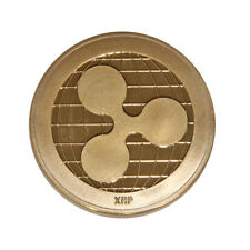 Gold Ripple Commemorative Round Collectors Coin XRP Coin is Gold Plated Coins 2s