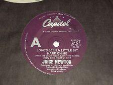 """JUICE NEWTON *RARE 7"""" 45  ' LOVE'S BEEN A LITTLE BIT HARD ON ME ' 1982 VGC"""