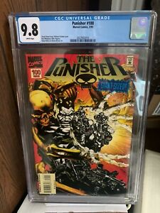 Punisher 100 Variant CGC 9.8 white pages Hot Book ! great price!