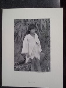 Amazon River Peru Jungle Yaqua Tribe Silver Gelatin Photo #14 Girl Along River