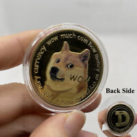 1x GOLD Dogecoin Coins Commemorative New Collector Gold Color Doge Coin Dogcoin