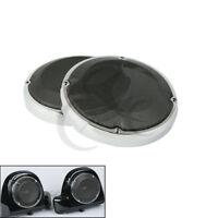 "6.5"" Speaker Grills Covers Vented Fairing Lower Fit For Harley Touring FLHT FLHR"