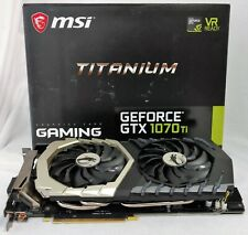 MSI NVIDIA GeForce GTX 1070 Ti Titanium 8 GB Graphic Card - Used