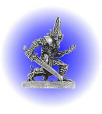 Dark Fantasy Armored Warrior Pewter Metal Figurine Game Piece - Lead Free