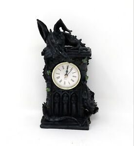 Duelling Dragon Clock Nemesis Now Orologio Duello Drago Statua fantasy NOW114