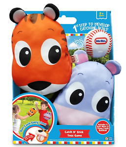 NEW Little Tikes Catch N' Stick Toss Game w/2 Soft Mitts & 1 Easy Catch Baseball