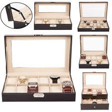 Uhrenbox Uhrenkoffer für 5 bis 24 Uhren Uhrentruhe Uhrenkasten Uhrenschatulle