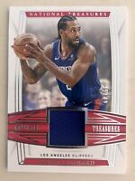 2019 National Treasures Kawhi Leonard Game Worn patch /49 Los Angeles Clippers