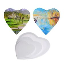Heart Shape Wood Framed Blank Stretched Art Cotton Canvas Oil Painting Boards
