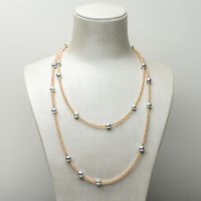 """Genuine Akoya Sea Pearl Freshwater Pearl Long Necklace 925 Sterling Silver 39.8"""""""