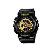Casio Baby-G BA-110 Black & Gold Series Analog-Digital Black x Gold Dial Watch