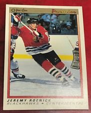 1990-91 O-Pee-Chee Premier Jeremy Roenick Rookie Card #100 Chicago Black Hawls