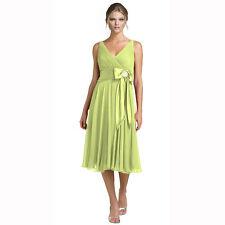 Rhinestone Chiffon Cocktail Party Bridesmaid Dress Leaf Green Size AU 8