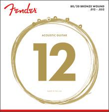 Fender 70L 80/20 Bronze Acoustic Guitar Strings - LIGHT 12-52