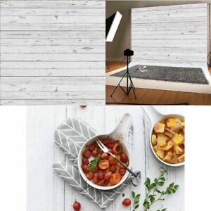 3x5ft White Wooden Backdrops Vintage Food Photography Table Background Props