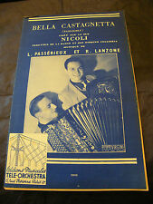 Partition Bella Castagnetta Duo Nicoli Passérieux et Lanzone Music Sheet