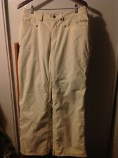 Burton Women's Off White Snowboard Snow Pants Ski size S Small