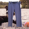 Kim Rogers Womens Super Stretch Capri Pant 6 Pullon Pull On Grommets Navy NWT