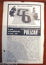 Pubblicità advertising vintage Pista Automobiline POLICAR autopista elettrica