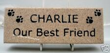 NATURAL STONE PET MEMORIAL BRICK SIZE PLAQUE SIGN SIGNS