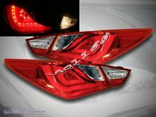 FOR 2011-2013 SONATA RED L.E.D. TAIL LIGHTS 4 PCS BRAND NEW