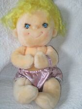 Vintage Kenner Hugga Bunch Precious Plush Doll Blonde Blond Yellow Hug 1985