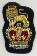 englischer, handgestickter Aufnäher mit Krone + Löwe badge with lion and crown