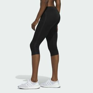 adidas Own The Run 3/4 Capri Womens Running Tights Black DW5958 05 msrp $50