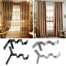 2× Double Hang Curtain Rod Holders Bracket Into Window Frame Curtain Rod Bracket