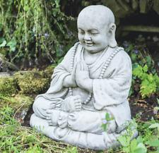 Stone Concrete Large Monk Buddha Serene Outdoor Statue Zen Garden Frostproof