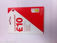 Vodafone Micro / Nano Sim Card For Apple iPhone 4 4S 5 5S 6 7 8 X Pay As You Go