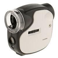 Mini 55X Magnifying Glass Jeweller Magnifier Loupe Microscope LED UV Light