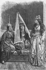 LEBANON. Druze Princess & Lady of c1885 old antique vintage print picture