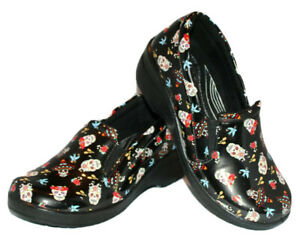 Easy Works by Easy Street clogs Size 9.5W Day of the Dead skulls