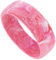Bangle Bracelet Matte Pink Fuschia Marbled Vintage