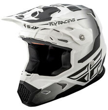 Fly Racing 73-8510 Toxin Helmet Sm Matte White/Black 2XL