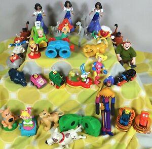 Vtg McDonalds Burger King Toy Lot 31 Disney Looney Tunes Muppet Sonic 1985 1995