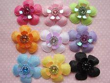"""36pcs Padded 1.5"""" Flower w/Sequin-9 colors-AF027"""