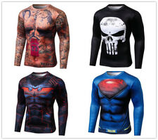 Presonalized Printings Men's Compression Long Sleeve T-Shirts Cycling Jersey Tee
