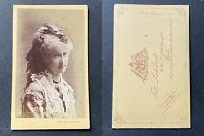 Fritz Luckhardt, Wien, Fräulein Looser, Schauspielerin, actrice, circa 1875 vint