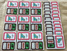 1979-80 Topps NHL Hockey Wax Pack Sticker Insert St. Louis Blues Lot Of 25